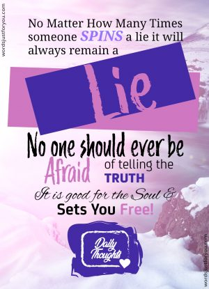 Daily Thoughts_Truth Will Set You Free