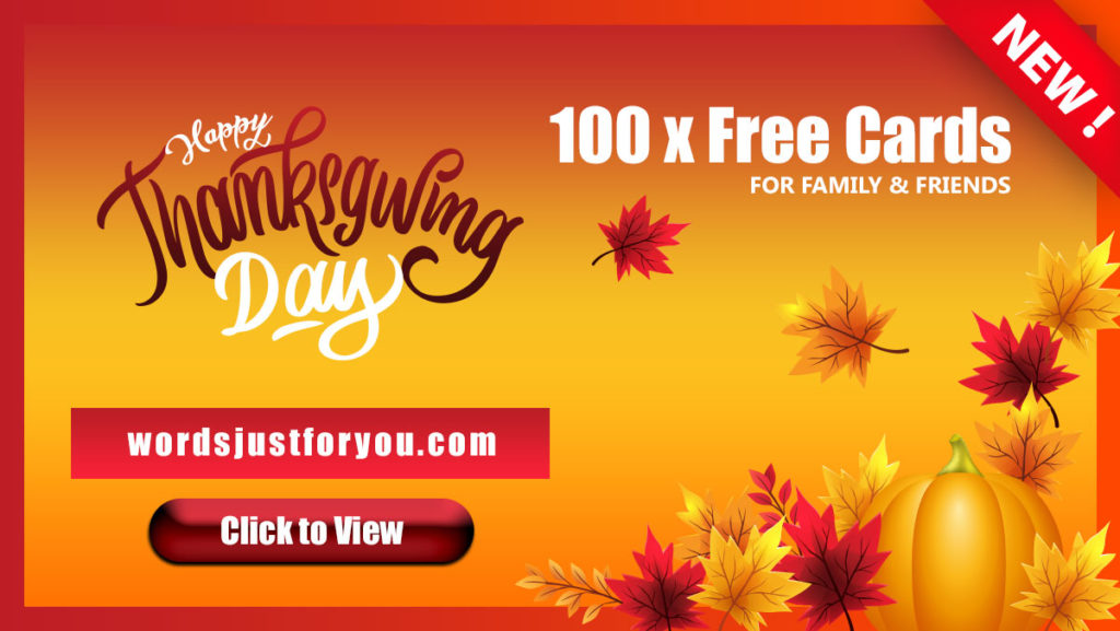 100 x Happy Thanksgiving Cards - 5552 1