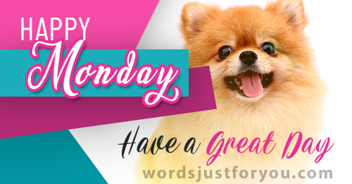 Happy Monday - Have a Great Day