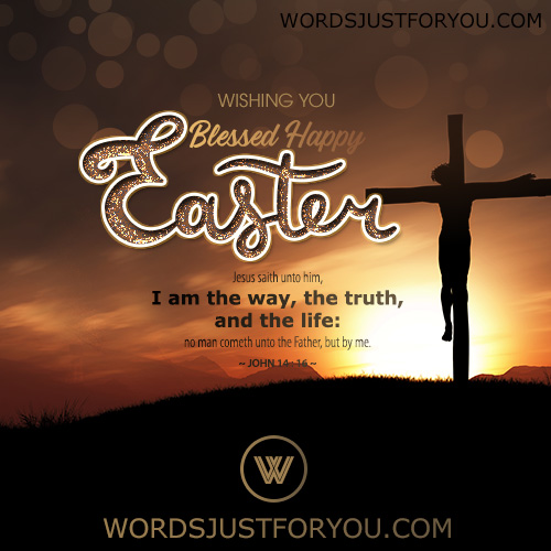 Wishing you a Blessed Happy Easter Card