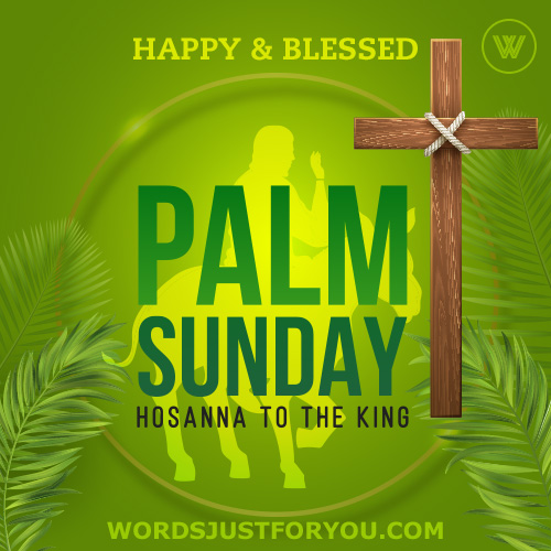 Happy & Blessed Palm Sunday